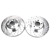 EBR864XPR Front Drilled, Slotted and Zinc Plated Brake Rotors