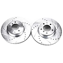 EBR870XPR Front Drilled, Slotted and Zinc Plated Brake Rotors