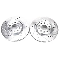 EBR898XPR Front Drilled, Slotted and Zinc Plated Brake Rotors