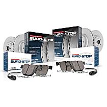 ESK892 Euro-Stop Brake Disc and Pad Kit, 4-Wheel Set