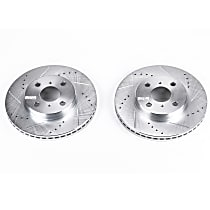 Power Stop® JBR1110XPR Front Drilled, Slotted and Zinc Plated Brake Rotors