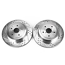 Power Stop® JBR1118XPR Rear Drilled, Slotted and Zinc Plated Brake Rotors