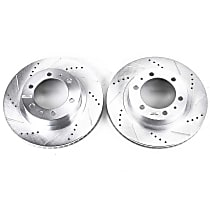 JBR1121XPR Front Drilled, Slotted and Zinc Plated Brake Rotors