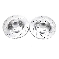 JBR1136XPR Front Drilled, Slotted and Zinc Plated Brake Rotors