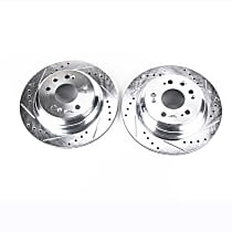 JBR1142XPR Rear Drilled, Slotted and Zinc Plated Brake Rotors