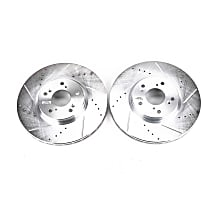 Power Stop® JBR1143XPR Front Drilled, Slotted and Zinc Plated Brake Rotors