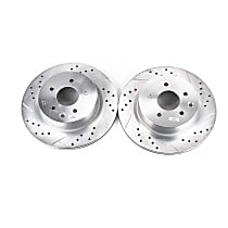 Power Stop® JBR1144XPR Rear Drilled, Slotted and Zinc Plated Brake Rotors