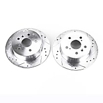 JBR1145XPR Rear Drilled, Slotted and Zinc Plated Brake Rotors