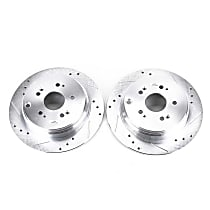 Power Stop® JBR1158XPR Rear Drilled, Slotted and Zinc Plated Brake Rotors