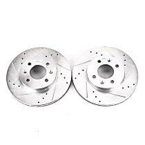 JBR1159XPR Front Drilled, Slotted and Zinc Plated Brake Rotors