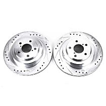 Power Stop® JBR1163XPR Rear Drilled, Slotted and Zinc Plated Brake Rotors