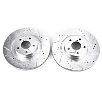 JBR1165XPR Front Drilled, Slotted and Zinc Plated Brake Rotors