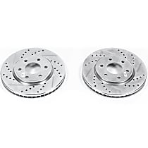 JBR1166XPR Front Drilled, Slotted and Zinc Plated Brake Rotors