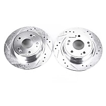 Power Stop® JBR1167XPR Rear Drilled, Slotted and Zinc Plated Brake Rotors