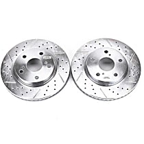 Power Stop® JBR1303XPR Front Drilled, Slotted and Zinc Plated Brake Rotors