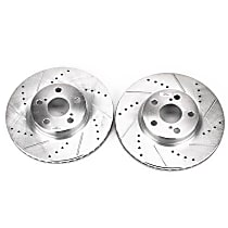 Power Stop® JBR1311XPR Front Drilled, Slotted and Zinc Plated Brake Rotors