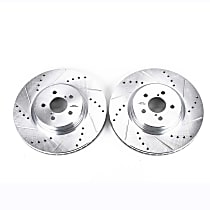 JBR1318XPR Front Drilled, Slotted and Zinc Plated Brake Rotors