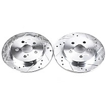 Power Stop® JBR1362XPR Rear Drilled, Slotted and Zinc Plated Brake Rotors