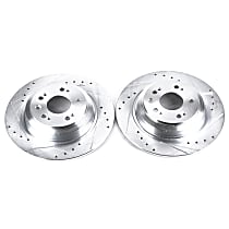 Power Stop® JBR1382XPR Rear Drilled, Slotted and Zinc Plated Brake Rotors