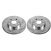 JBR1394XPR Front Drilled, Slotted and Zinc Plated Brake Rotors