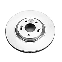Powerstop Front Driver Or Passenger Side Brake Disc - Evolution Geomet Coated Performance 1 Piece, Vented