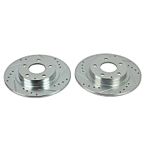 Power Stop® JBR1597XPR Rear Drilled, Slotted and Zinc Plated Brake Rotors