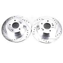 Power Stop® JBR1705XPR Rear Drilled, Slotted and Zinc Plated Brake Rotors