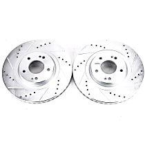 JBR1706XPR Front Drilled, Slotted and Zinc Plated Brake Rotors