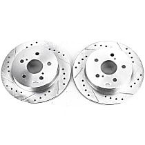 Power Stop® JBR1738XPR Rear Drilled, Slotted and Zinc Plated Brake Rotors