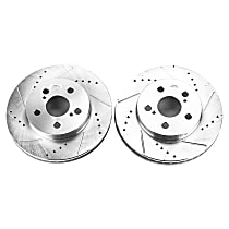 Power Stop® JBR1744XPR Front Drilled, Slotted and Zinc Plated Brake Rotors