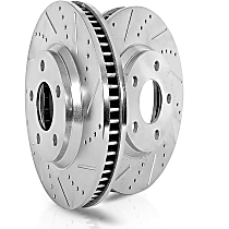 JBR1751XPR Front Drilled, Slotted and Zinc Plated Brake Rotors