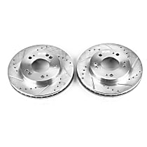 JBR518XPR Front Drilled, Slotted and Zinc Plated Brake Rotors