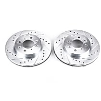Power Stop® JBR522XPR Front Drilled, Slotted and Zinc Plated Brake Rotors