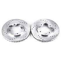 Power Stop® JBR524XPR Front Drilled, Slotted and Zinc Plated Brake Rotors