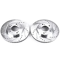 Power Stop® JBR528XPR Front Drilled, Slotted and Zinc Plated Brake Rotors