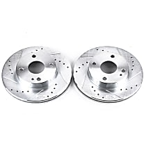 Power Stop® JBR543XPR Front Drilled, Slotted and Zinc Plated Brake Rotors
