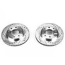 JBR722XPR Front Drilled, Slotted and Zinc Plated Brake Rotors