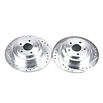 Power Stop® JBR945XPR Rear Drilled, Slotted and Zinc Plated Brake Rotors