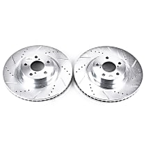 Power Stop® JBR957XPR Front Drilled, Slotted and Zinc Plated Brake Rotors