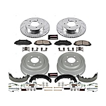 Power Stop® K15177DK Front and Rear Power Stop® [SKU] [Axle] Z23 Daily Carbon-Fiber Ceramic Brake Pads, Drilled + Slotted Rotors, Drum + Shoe Kit