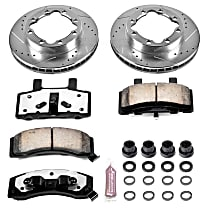 Front Z36 Truck Carbon-Fiber Ceramic Brake Pad and Drilled & Slotted Rotor Kit