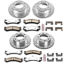 K2023-36 Front and Rear Z36 Truck Carbon-Fiber Ceramic Brake Pad and Drilled & Slotted Rotor Kit