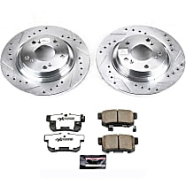 Power Stop® K2310-26 Rear Z26 Muscle Carbon-Fiber Ceramic Brake Pad and Drilled & Slotted Rotor Kit