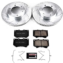 Power Stop® K2323 Front Z23 Daily Carbon-Fiber Ceramic Brake Pad and Drilled & Slotted Rotor Kit