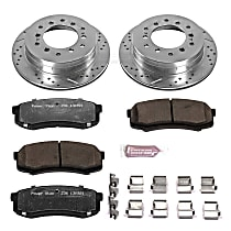 Power Stop® K2405-36 Rear Z36 Truck Carbon-Fiber Ceramic Brake Pad and Drilled & Slotted Rotor Kit