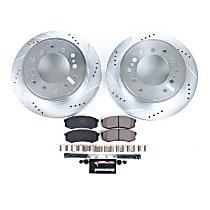 K2405 Rear Z23 Daily Carbon-Fiber Ceramic Brake Pad and Drilled & Slotted Rotor Kit