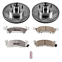 Power Stop® K2580-26 Front Z26 Muscle Carbon-Fiber Ceramic Brake Pad and Drilled & Slotted Rotor Kit