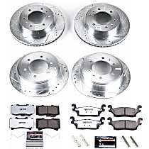 Power Stop® K2820-36 Front and Rear Z36 Truck Carbon-Fiber Ceramic Brake Pad and Drilled & Slotted Rotor Kit