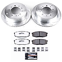 Rear Z36 Truck Carbon-Fiber Ceramic Brake Pad and Drilled & Slotted Rotor Kit