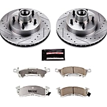 Power Stop® K4539-26 Front Z26 Muscle Carbon-Fiber Ceramic Brake Pad and Drilled & Slotted Rotor Kit